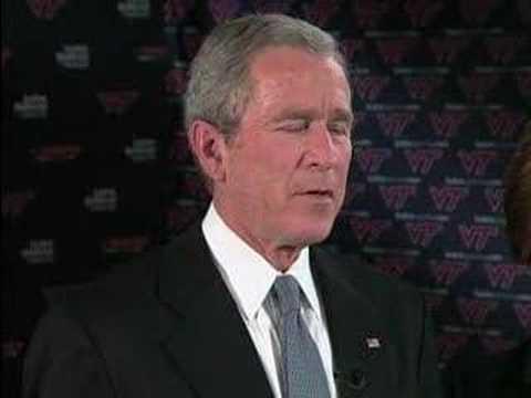 Eye To Eye: President Bush On Va. Tech Shooting (CBS News)
