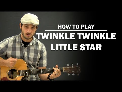 Twinkle Twinkle Little Star | Beginner Guitar Lesson | How To Play