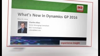 What's New in Dynamics GP 2016
