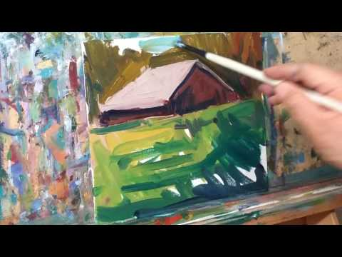 JOSE TRUJILLO Impressionist Oil Painting Demo – Cabin In The Woods
