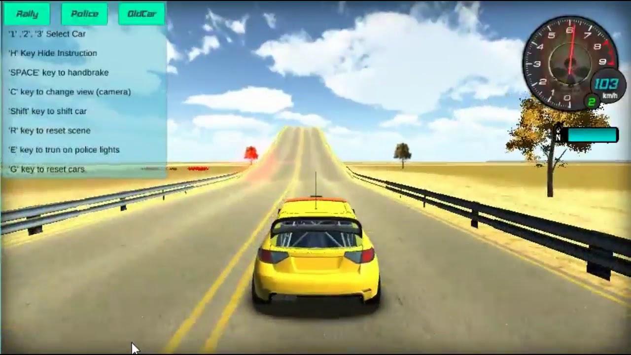 Carrinho em alta velocidade  -Jogo com carro em velocidade