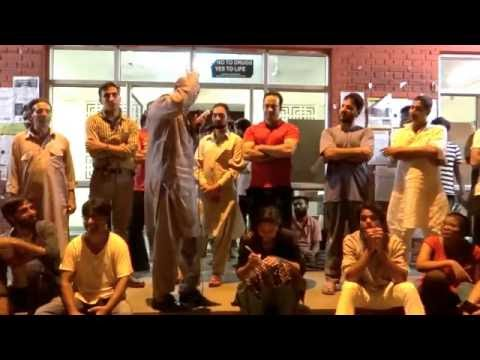 Engineer Rashid, Independent MLA from  J&K  speaks at Chandrabhaga Hostel premise JNU