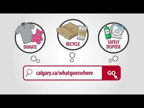 What Goes Where - Calgary's online recycling and disposal search tool