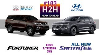 H2H #183 Hyundai ALL NEW SANTA FE vs Toyota ALL NEW FORTUNER
