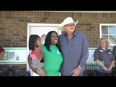 Alan Jackson Helps Dedicate House As Part Of National Habitat For  Humanity Home Builders Blitz