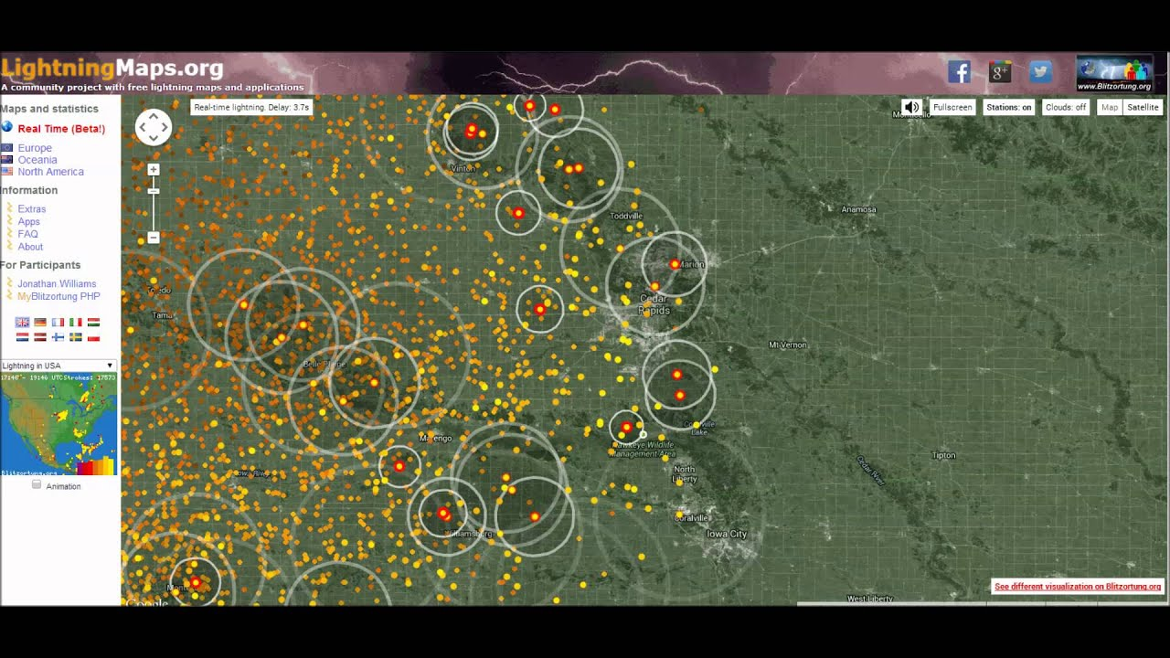 blitzortung tracking the derecho youtube