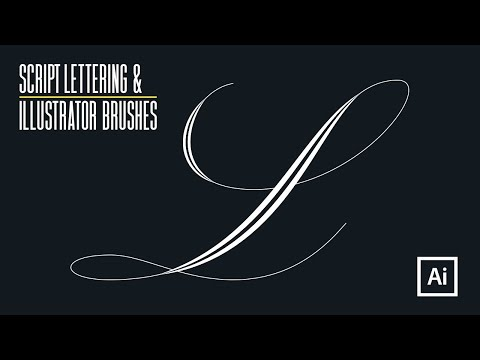 Adding Weight to Script Lettering using ILLUSTRATOR BRUSHES