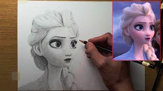 FROZEN 2 Drawing | Part 1 | Elsa