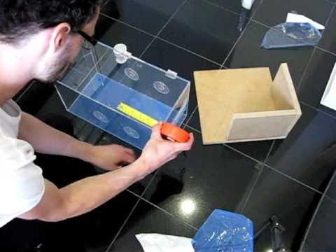 how to make an acrylic tarantula terrarium part 3 youtube. Black Bedroom Furniture Sets. Home Design Ideas