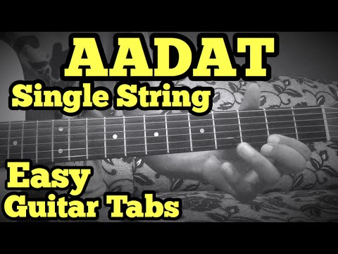 Aadat Guitar Lead/Solo Tabs Lesson | SINGLE STRING | JAL Band | Atif ...