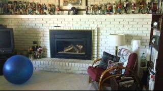 Before After Brick Fireplace Glass Tile Stairs Carpet Wood Floor Basement Refinish Update Bath Bar