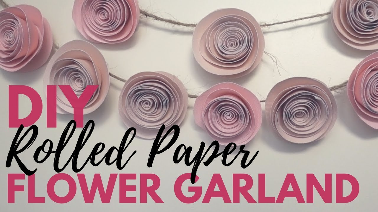 Diy rolled paper rose garland tutorial youtube diy rolled paper rose garland tutorial mightylinksfo
