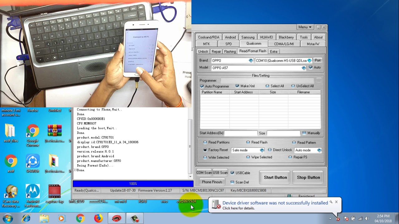 Oppo A57 Hard Reset | Pattern Unlock | Frp Bypass| Miracle Box One Click