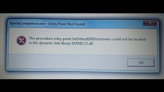 Sony PC/Xperia Companion Error (Kernal32.dll) Solved in Few Minutes