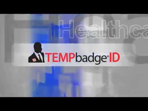 The TEMPbadge® Visitor Management System by PDC Healthcare