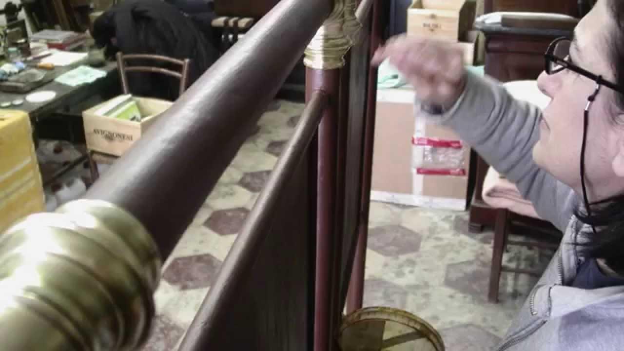 Verniciare Letto Ferro Battuto anna catena_restauro letto in ferro battuto - youtube
