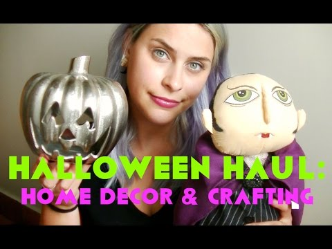Halloween Haul 5 Home Decor Crafty Edition Youtube