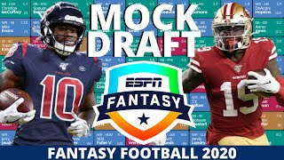 2020 Fantasy Football Mock Draft (PPR) - 10 Team- Pick 9