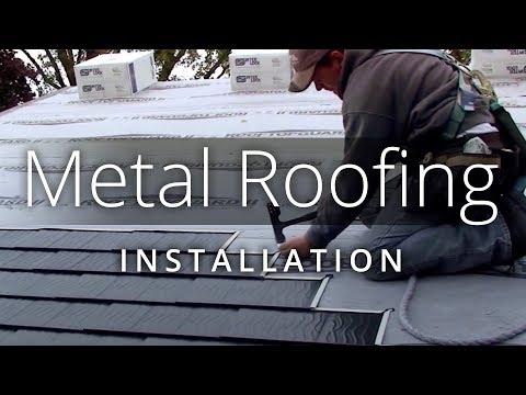 Metal Roofing Installation — Interlock® Aluminum Roof Shingles