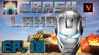 Minecraft | CRASH LANDING EP.10 EL CASCO DE IRON MAN!!!