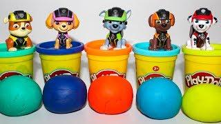 Щенячий патруль новые серии Развивающие мультики для детей Учим Цвета Paw patrol Play Doh Игрушки