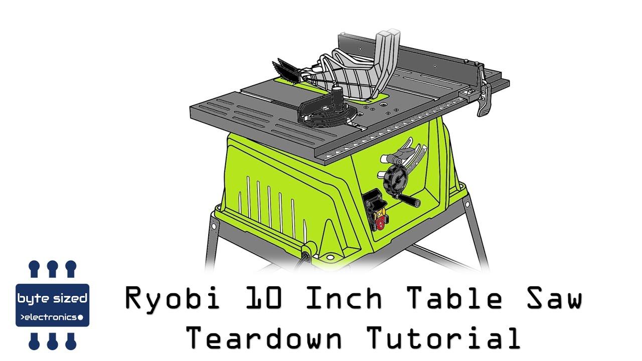 how to take apart ryobi table saw [ 1280 x 720 Pixel ]