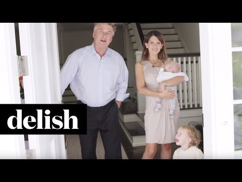 Kitchens of the Stars With Alec & Hilaria Baldwin | Delish + Elle Decor