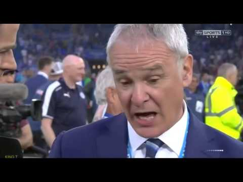 Claudio Ranieri Post Match Interview as Champion