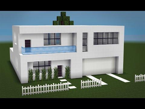 Minecraft como fazer uma pequena casa moderna 2 for Casas modernas minecraft keralis