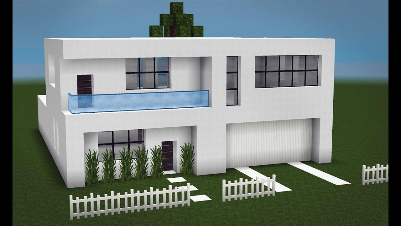 Minecraft como fazer uma pequena casa moderna 2 youtube for Casas pequenas modernas