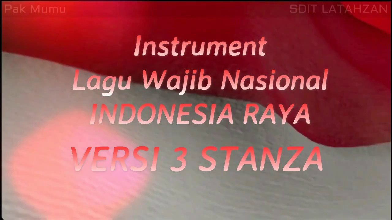 Instrumen Lagu Wajib Nasional