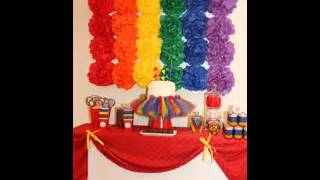 Easy DIY Rainbow party decorating ideas