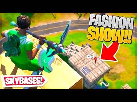 I STREAM SNIPED FORTNITE FASHION SHOWS with SKYBASES... (so funny)