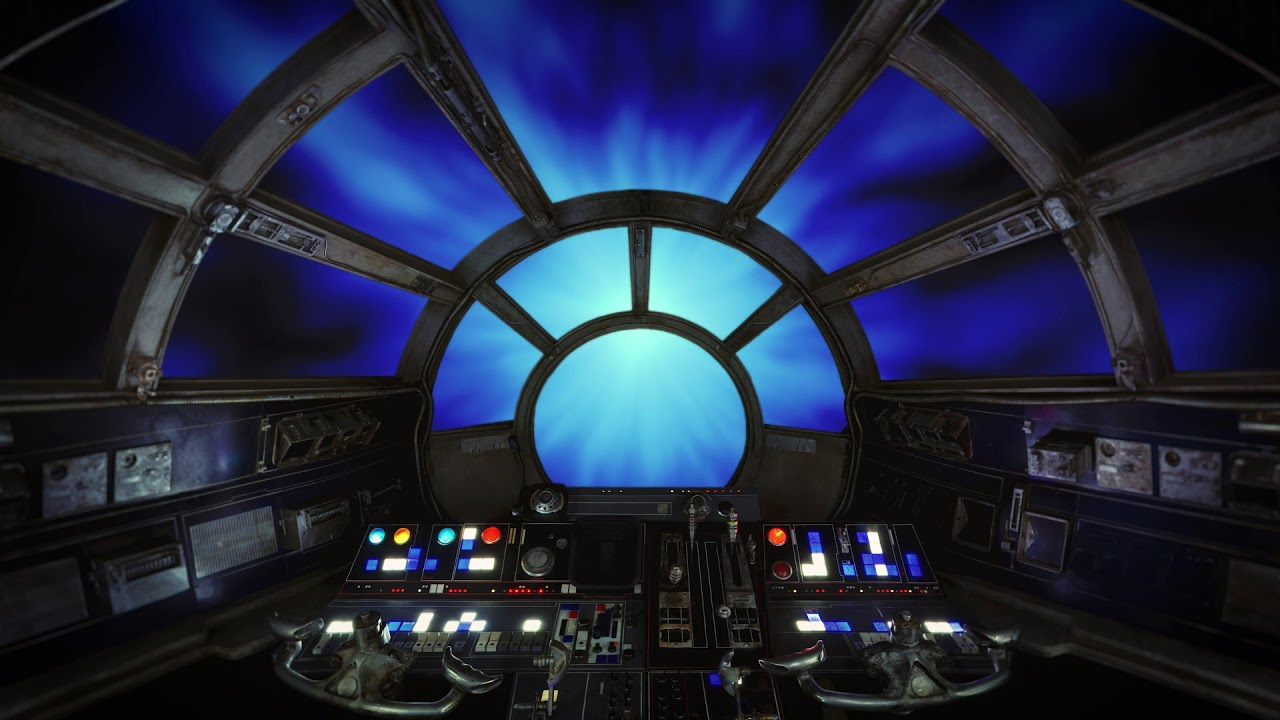 the millennium falcon flying through hyperspace with ambient noise youtube. Black Bedroom Furniture Sets. Home Design Ideas