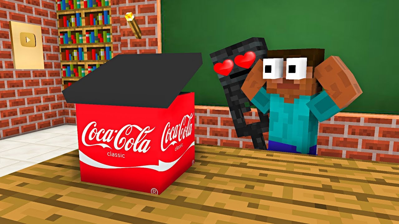 Monster School : FREE GIFT FROM COCA COLA - Minecraft Animation
