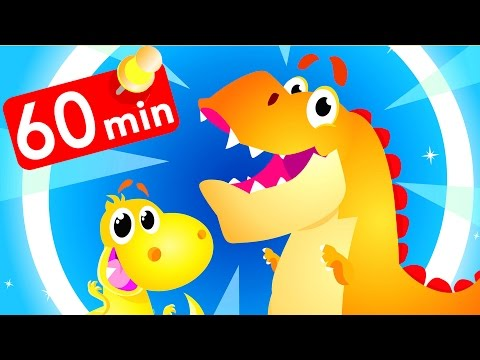 Dangerous Dinosaurs Compilation! Baby T-Rex, Jungle by Little Angel: Nursery Rhymes and Kid's Songs