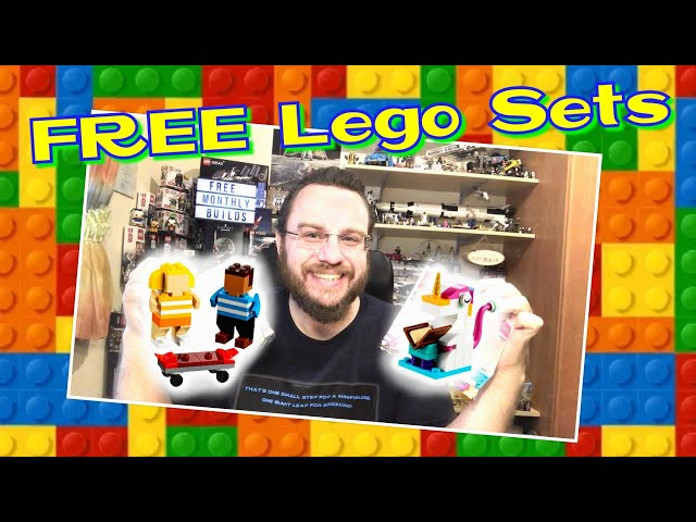 FREE Lego Sets - Cute Monthly Builds 2020 (Skater Kids 40402 & Unicorn 40403)