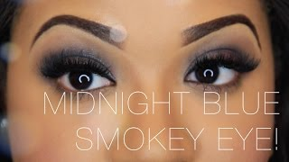 Midnight Blue Smokey Eye Tutorial | Colour Pop