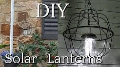 DIY DOLLAR TREE SOLAR HANGING LANTERNS   SUMMER OUTDOOR DECOR IDEAS