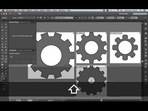 """Basic Gears"" Adobe Illustrator and Astute Graphics VectorScribe"