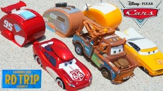 DISNEY PIXAR CARS ROAD TRIP LIGHTNING MCQUEEN MATER RAMONE SURPRISE TREASURE AT BEACH