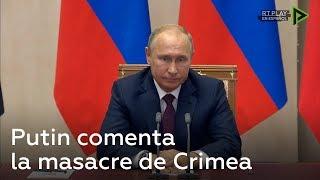 Putin habla sobre el ataque contra una escuela técnica de Crimea