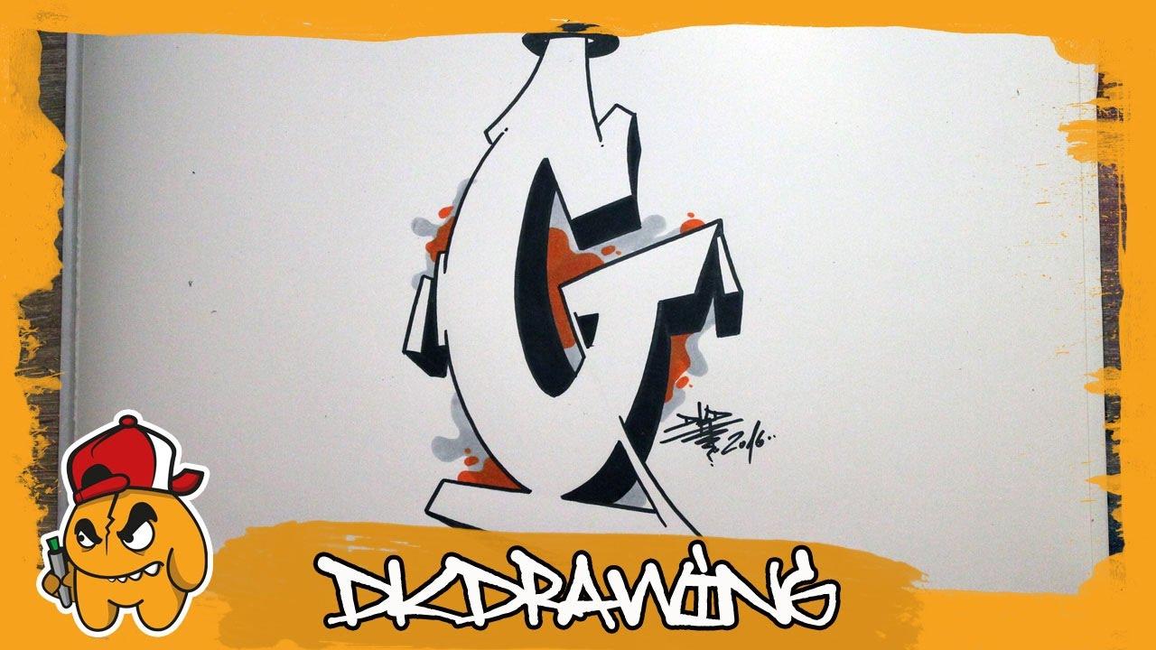 Graffiti alphabet tutorial how to draw graffiti letters letter g