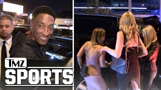 SCOTTIE PIPPEN HITS CLUBS WITHOUT LARSA... Leaves with Hot Chicks | TMZ Sports