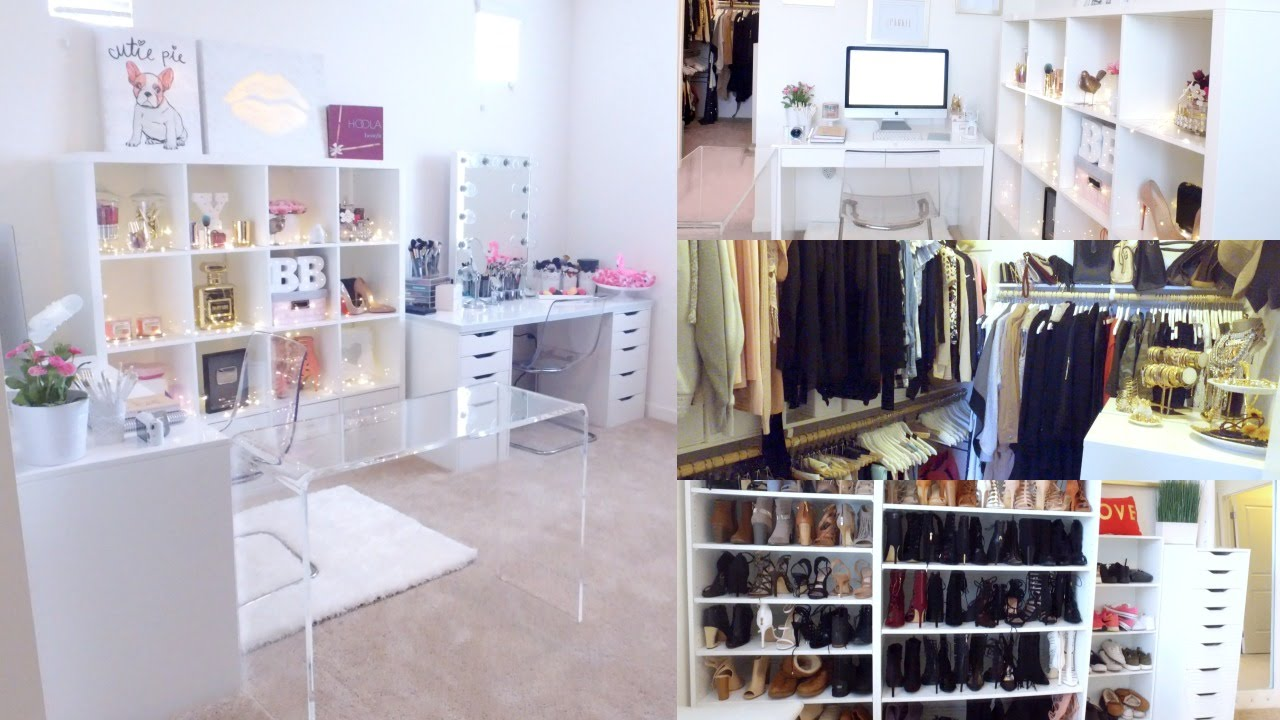 Closet Office Ideas Ikea   BEAUTY OFFICE U0026 CLOSET ROOM TOUR