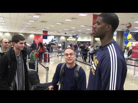 Utah Jazz Visit Salt Lake International Airport
