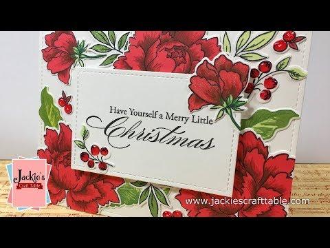 Red Christmas Flowers Card/Christmas Card Series 2017