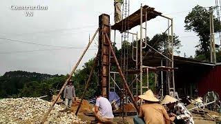 Technique construction a cocrete column| Construction VN