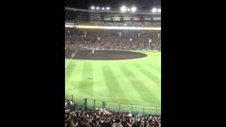 阪神 金本知憲選手の引退セレモニーの始まり部分です。
