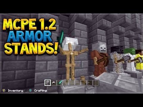 MCPE 1.2 EXCLUSIVE ARMOR STANDS!! Minecraft Pocket Edition - 1.2 UPDATE Features Preview